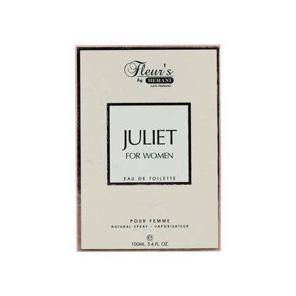 Juliet for Women - A sensual scent that awakens the feminism with a modern twist Fleur's by Hemani Herbals Perfumes are an exception of delicacy classics, with blends of clean, fresh and sophisticated scents, for both men and women. Eau de Toilette