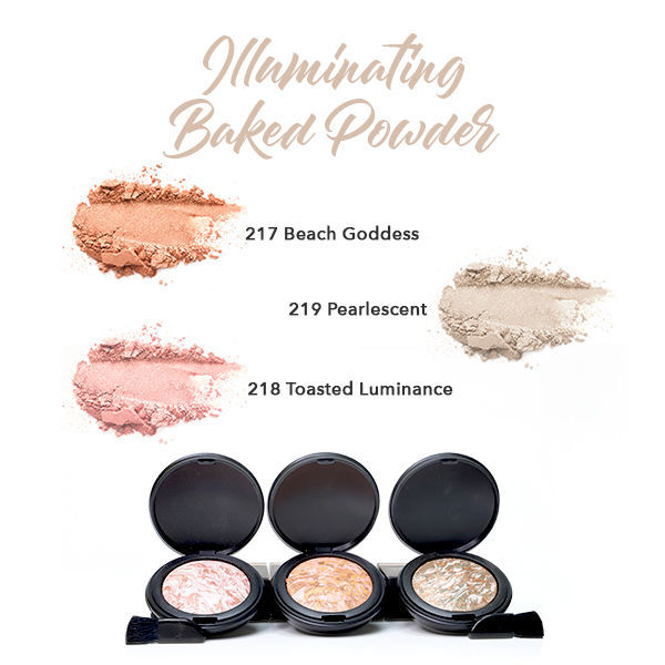 Herbal Infused Beauty Illuminating Baking Powder Swatches