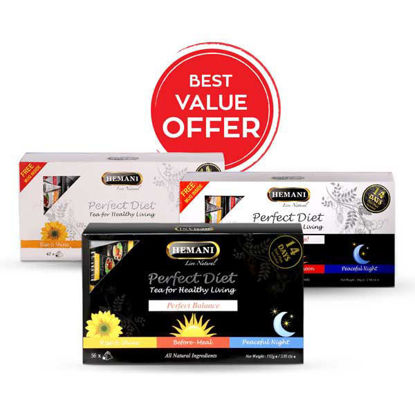 Hemani Herbal Perfect Diet 3 steps Combo Pack