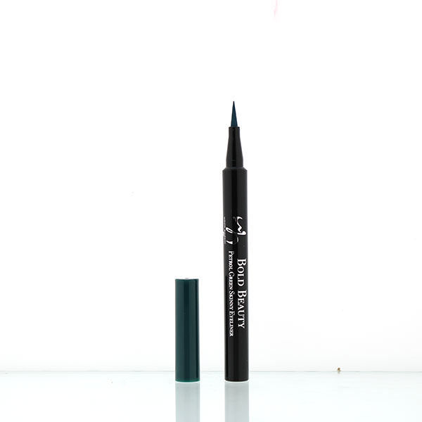 wb by hemani oh so flawless bold beauty skinny eyeliner - petrol green