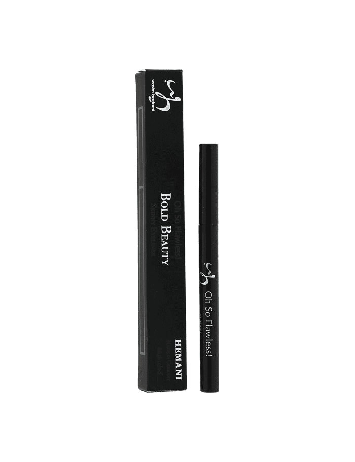 wb by hemani oh so flawless bold beauty skinny eyeliner black