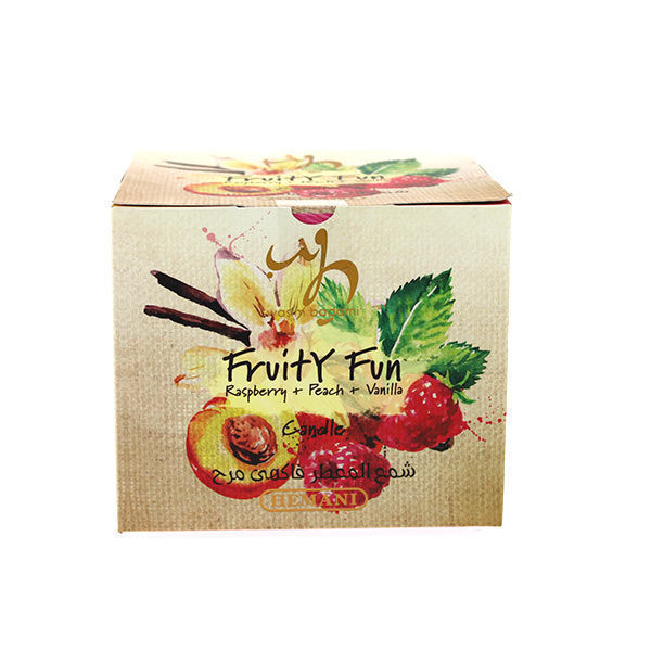 wb by hemani french scented candle  fruity fun raspberry peach vanilla