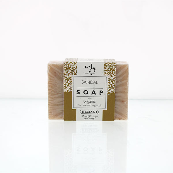 WB by Hemani Herbal Soap with Organic Argan Oil & Organic Coconut Oil - Sandalwood