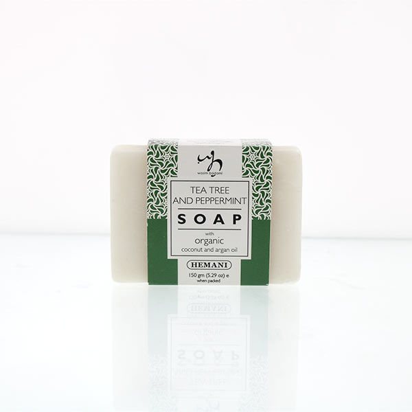 WB by Hemani Herbal Soap with Organic Argan Oil & Organic Coconut Oil - Tea Tree & Peppermint