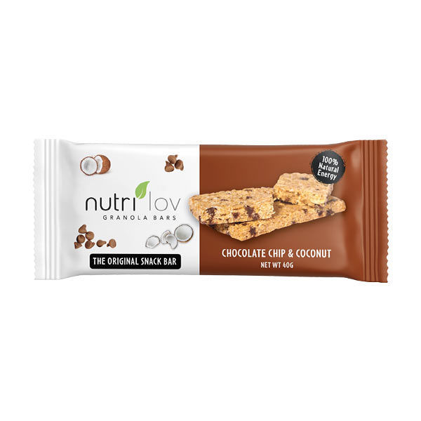Nutrilov Chocolate Chip & Coconut Granola Bar