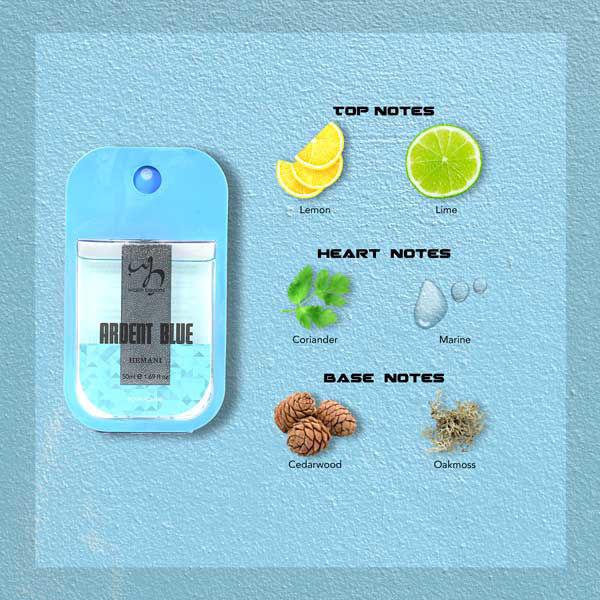 Pocket Perfume - Ardent Blue 50ml Notes