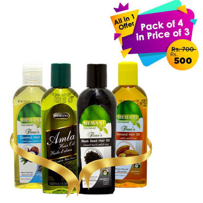 All in 1 pack of 4 in price of 3 (Hair Oil)