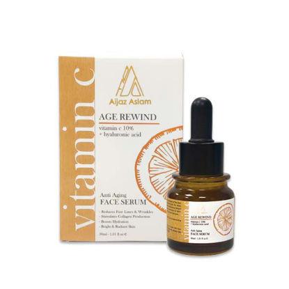 Age Rewind Face Serum with Vitamin C 10% + Hyaluronic Acid (Aijaz Aslam)